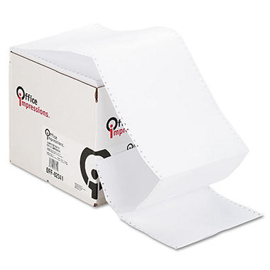 "Office Impressions - Computer Paper, 20lb, 92 Bright, 9-1/2 x 11"" - Case"