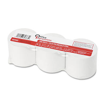 Office Impressions - Calculator Plain Paper Roll - 3 Pack