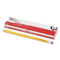 Office Impressions - Economy Woodcase Pencil, HB #2, Yellow Barrel - 12 pack
