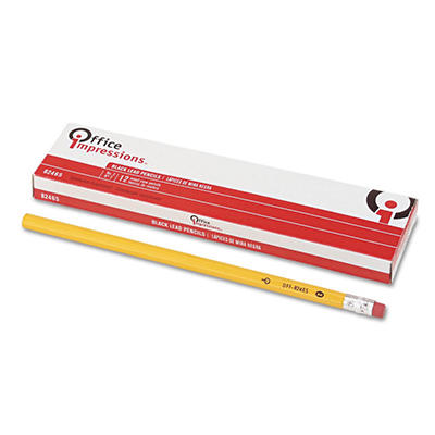 Office Impressions - Economy Woodcase Pencils, HB #2, 12 Count - 6 Pack