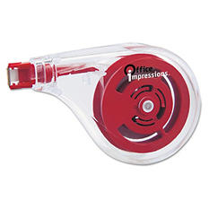 "Office Impressions Sideways Application Correction Tape - 1/5"" x 393"" - 6 pk."