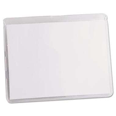 Office Impressions - Clear Badge Holders with Inserts, Top Load, 3 x 4, White - 50/Box