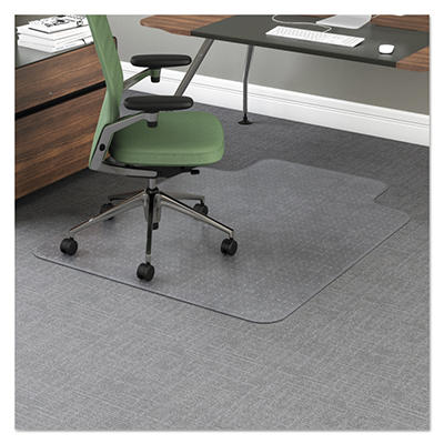 "Office Impressions Chair Mat - 12"" Lip - Clear"