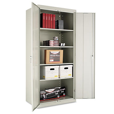 "Alera - Assembled Welded Storage Cabinet, 24"" - Light Gray"