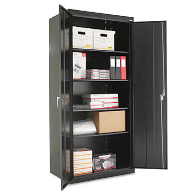 "Alera - Assembled Welded Storage Cabinet, 24"" - Black"