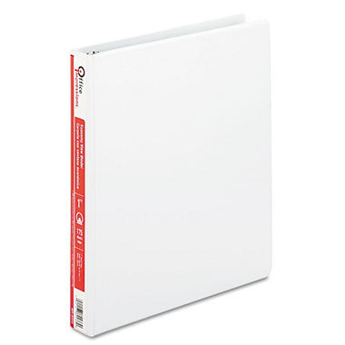 "Office Impressions - Economy View Binder, Round Ring, 1"", White - 12 Pack"