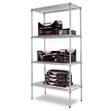 Alera - Wire Shelving Unit, 36 x 18