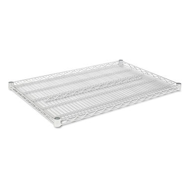 Alera Industrial Wire Shelving Extra Wire Shelves - Silver - 36