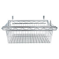 "Alera 18"" x 24"" Sliding Wire Basket For Wire Shelving, Silver"