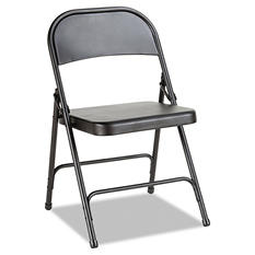 Alera - Steel Folding Chair, Graphite, 4Pack