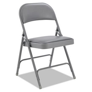 Alera Steel Folding Chair with Padded Back and Seat, Select Color - 4 pack