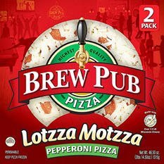 Brew Pub Lotzza Motzza Pepperoni Pizza (23.25 oz. ea., 2 pk.)