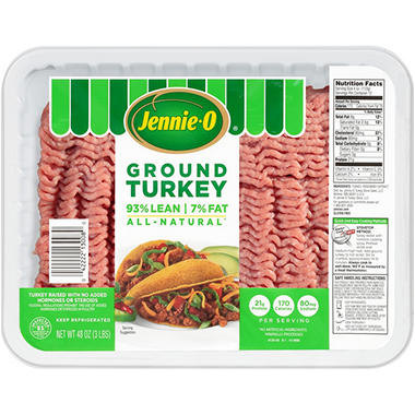 Jennie-O Lean Ground Turkey (2.5 lb. trays, 2 ct., Priced Per Pound)