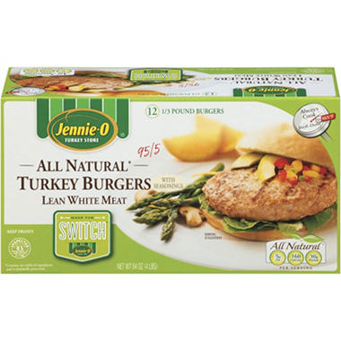 Jennie O White Turkey Burgers - 12 ct.