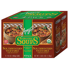 Amy's Kitchen Organic Southwestern Vegetable Soup (14.3 oz. ea., 4 pk.)