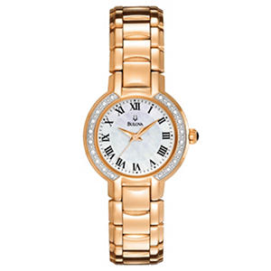 Women's Bulova Rose Gold Diamond Watch