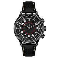 Bulova Men's Accu Swiss Mechanical Hand Wind Black Strap Watch