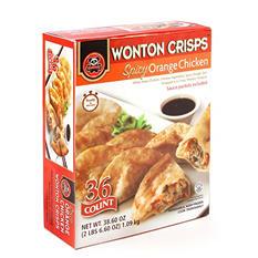 Wing Hing Spicy Orange Chicken Wonton Crisps (36 ct.)