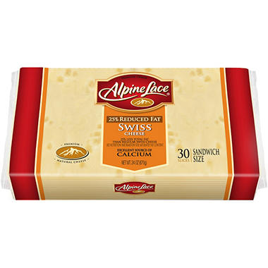 Alpine Lace� Reduced Fat Sliced Swiss - 24oz