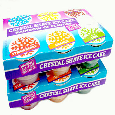 Crystal Shave Ice Cake Variety Pack -2/6 packs