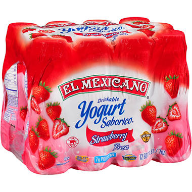 El Mexicano® Saborico® Strawberry Drinkable Yogurt - 7 oz.- 12 ct.