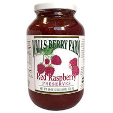 Walls Berry Farm Red Raspberry Preserves (46 oz.)