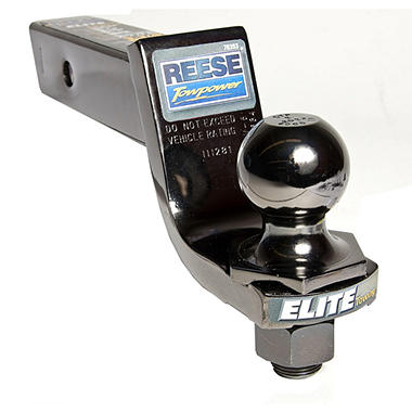 "REESE� Towpower Elite Black Nickel Interlock 2"" Hitch Ball and Ball Mount Combination"
