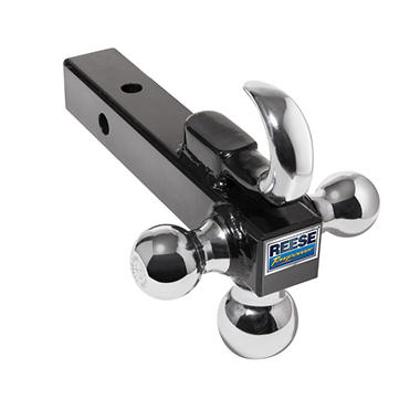 Reese Towpower Chrome Towing Tri-Ball Ball Mount with Tow Hook