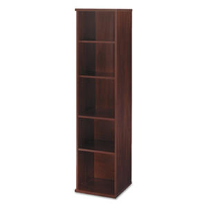 "Bush Series C 18"" Single Bookcase, Hansen Cherry"