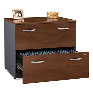 "Bush - Series C Assembled Lateral File Cabinet, 2-Drawer, 23"" - Hansen Cherry"