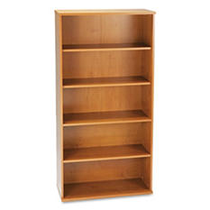 Bush - Series C Open Double Bookcase - Natural Cherry
