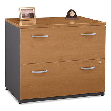 "Bush - 36"" Width, 2-Drawer Lateral File (Assembled) Series C  - Natural Cherry"