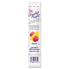 Crystal Light On The Go Drink Mix, Raspberry Lemonade (.10 oz. packet, 30 ct.)