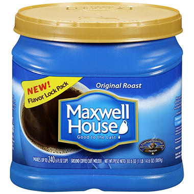 Maxwell House� Regular Ground Coffee - 30.6 oz canister