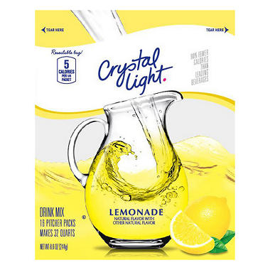 Crystal Light Sugar Free Lemonade Mix - 32 qt.