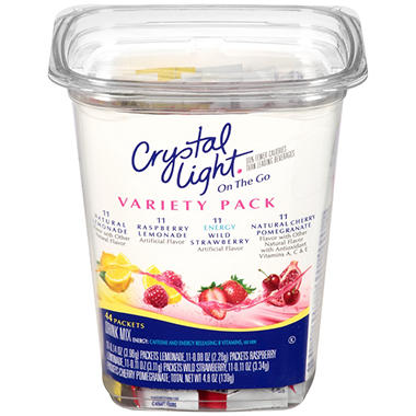 Crystal Light® On the Go Pack - 44 ct. - 4 Flavors