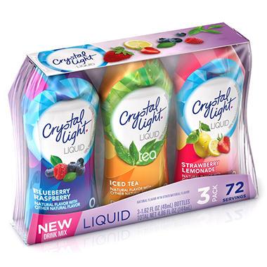 Crystal Light Liquid Variety Pack - 4.86 oz. - 3 pk.