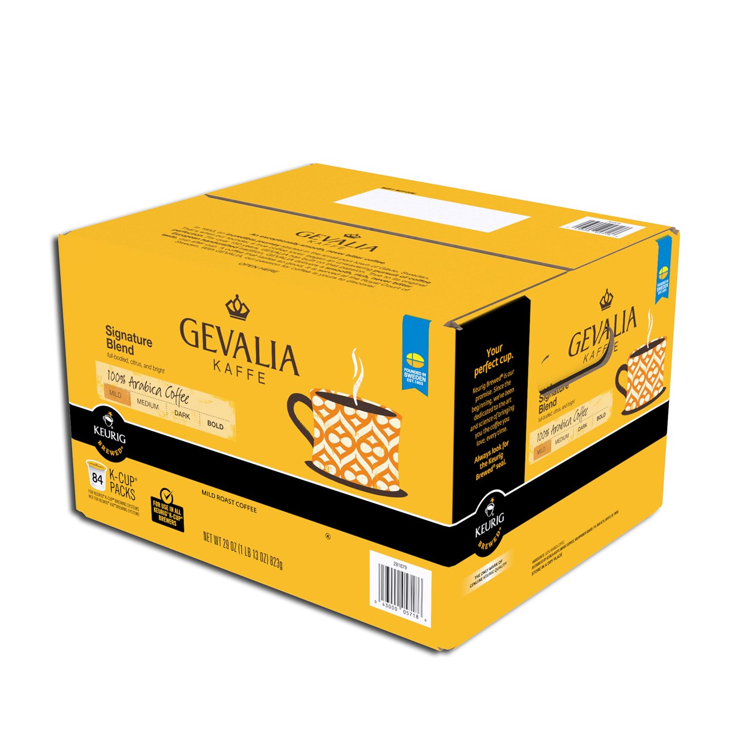 Gevalia Coffee Maker Plastic Smell : Gevalia Single Serve Coffee Cup Signature Blend 84 Ct For K-cup Brewing system