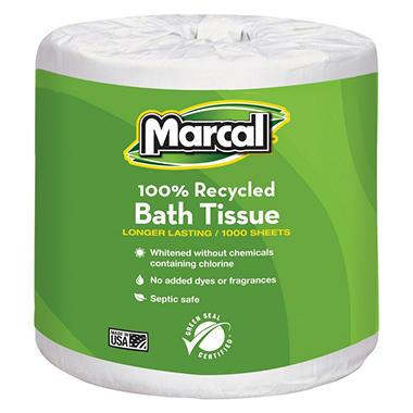 Marcal Recycled Bath Tissue - 40 Rolls