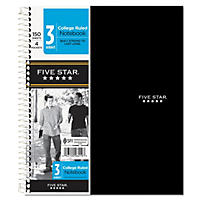 Mead Wirebound Notebook, College Rule, 3 Subject 150 Sheets