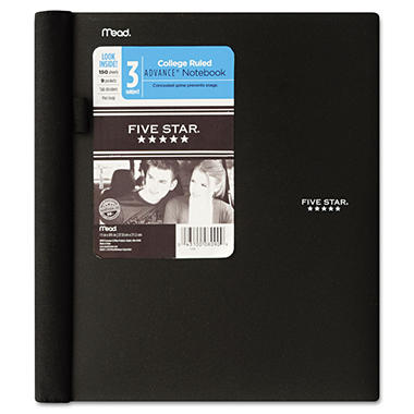 Mead Five Star Advance Wirebound Notebook, College Rule, Letter, 3 Subject 150 Sheets per Pad
