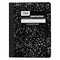Mead - Wireless Composition Book, College Rule, 9-3/4 x 7-1/2, White - 100 Sheets