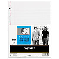 Mead Reinforced Filler Paper, College-Ruled, 11 x 8-1/2, White - 100 Sheets/Pack