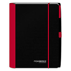 Cambridge - Accents Business Notebook, 6 7/16 x 9 1/2, Legal Rule, Red Cover -  100 Sheets
