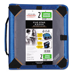 "Five Star Zipper Binder, 11 x 8 1/2, 2"" Capacity - Blue"