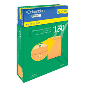 Columbian Clasp Envelopes, No. 97, 150 Count