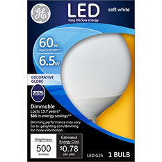 GE LED 6 Watt G25 Soft White Frosted Globe (3 pack)