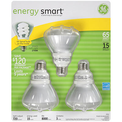 GE Soft White Light Bulbs - 3/15 watt bulbs
