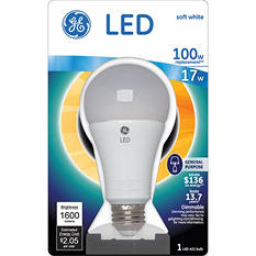 GE LED 17 Watt Soft White General Use Bulb