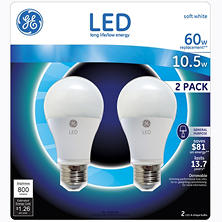 GE 10.5 Watt LED General Use Bulb (2-pack)